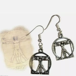 New The Vitruvian Man Leonardo da Vinci Earrings
